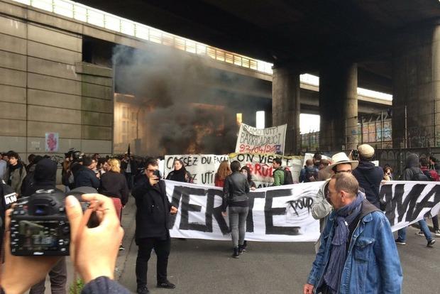 В Париже митинг против подруги Путина Марин Ле Пен завершился беспорядками