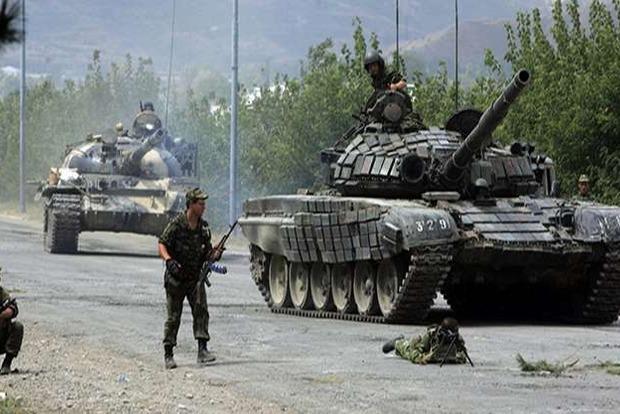 В районе Красногоровки террористы применили танк