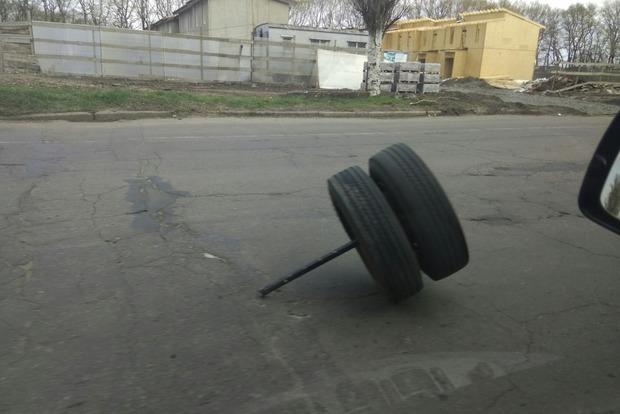 В Черкассах у маршрутки на ходу отвалились колеса