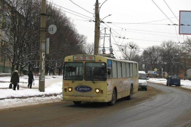 Троллейбус загорелся на ходу в Харькове
