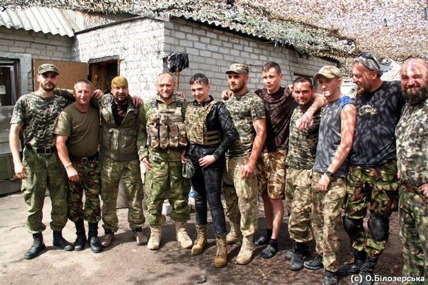 Ярош и Савченко встретились в районе АТО (фото)