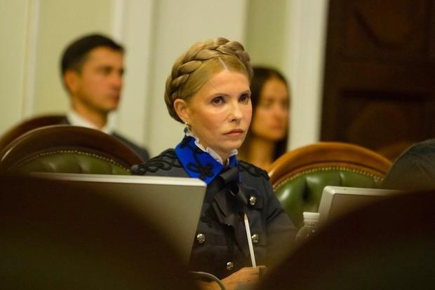 Тимошенко пришла вРаду в«генеральском» наряде