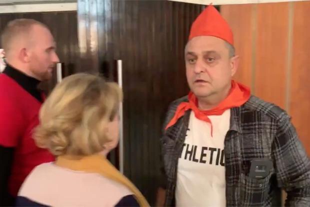 На «Дискотеку 80-х» в Киеве пришли пионеры-провокаторы