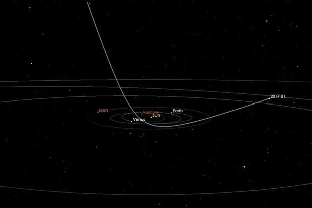 Астрономы увидели первый межзвездный объект