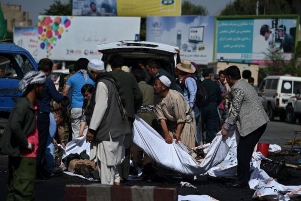 Опубликовано видео мощного взрыва в Кабуле