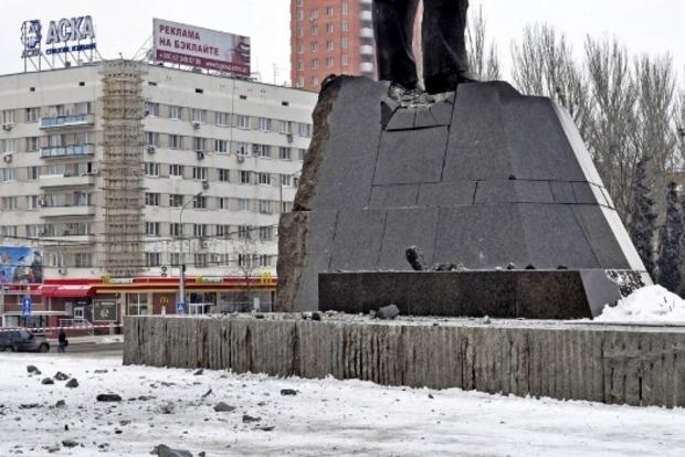 В Донецке пытались взорвать памятник Ленину