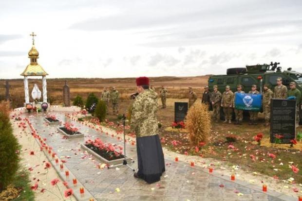Памятник Героям Небесной сотни и погибшим добровольцам открыли на горе Карачун