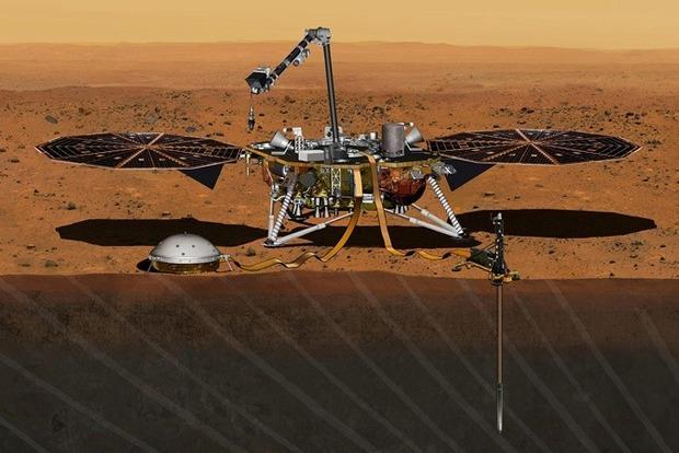 Зонд Інсайт успішно приземлився на Марсі