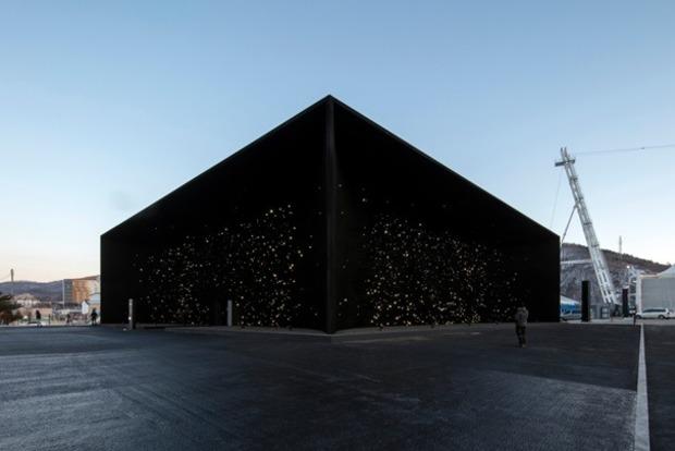 Самое черное здание в мире построили в Пхенчхане