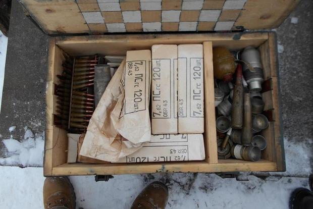 В Донецкой области найден тайник с боеприпасами