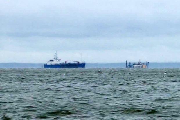 В Керченском проливе столкнулись два судна российских оккупантов