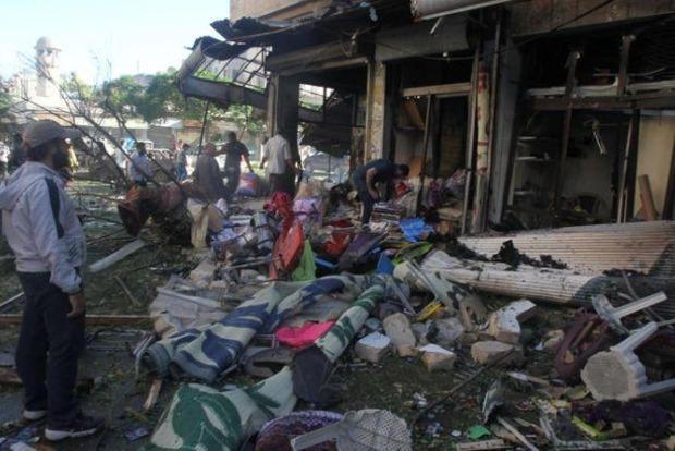 В Сирии от авиаударов погибли по меньшей мере 82 человека