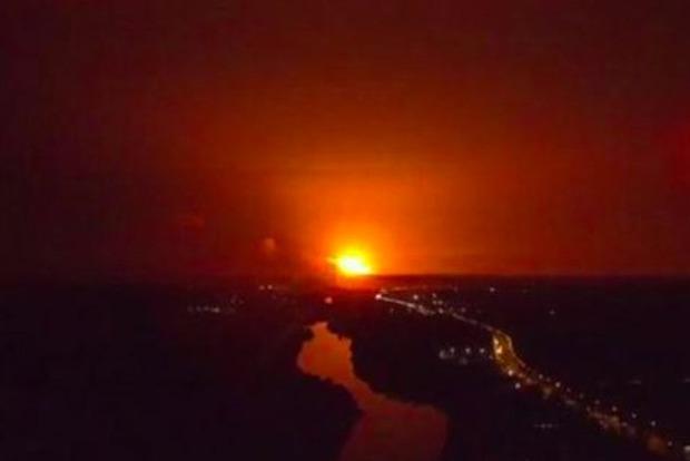 Взрыв в Калиновке: опубликовано видео с беспилотника