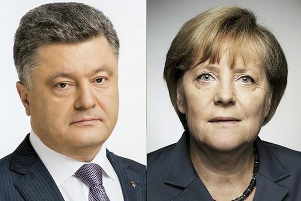 Порошенко накануне визита Путина в Германию поговорил с Меркель