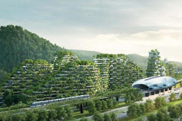 Китай строит первый в мире «лесной город», в котором будет жить 30 тысяч человек