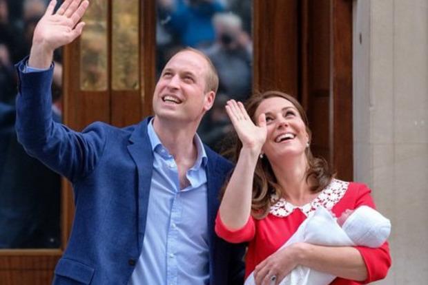Стало відомо ім'я третьої дитини принца Вільяма і герцогині Кейт