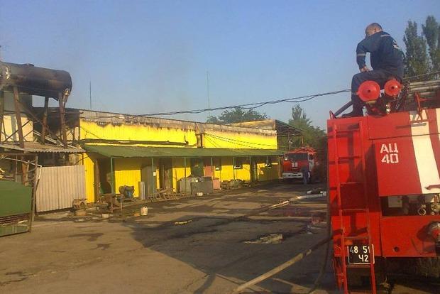 В Херсонской области произошел пожар в кисломолочном цеху