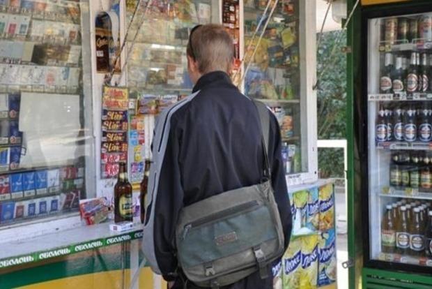 Во всех ларьках Киева запретили продажу алкоголя