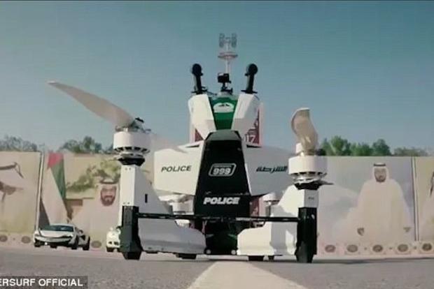 Полиция Дубая протестировала невероятный воздушный мотоцикл для патрульных