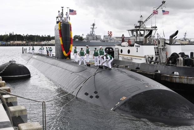 В Южную Корею прибыла атомная подлодка США Тусон
