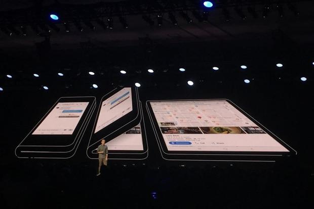 Samsung показала свой первый смартфон с гибким дисплеем
