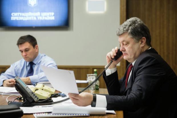 Петр Порошенко и Павел Климкин осудили теракт в Барселоне
