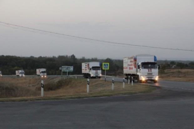 Очередной «гумконвой» уже пересек границу и едет на Донбасс