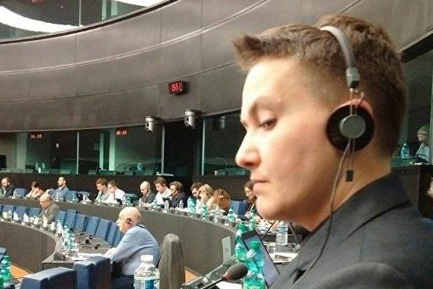 Савченко заверила, что три последних дня была в Европарламенте, а в РФ ездила только на суд