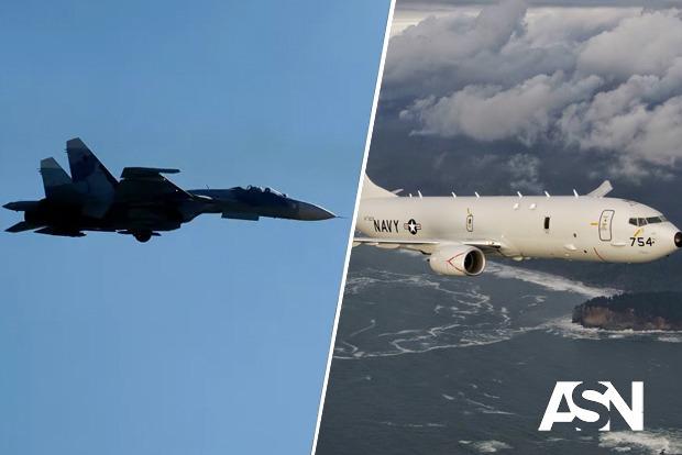 Российский Су-27 вылетели на перехват американских самолетов над Черным морем