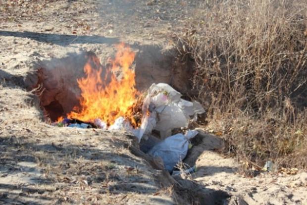В Славянске сожгли более 100 килограммов конопли