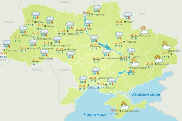 Синоптики обещают в Украине дожди и грозы