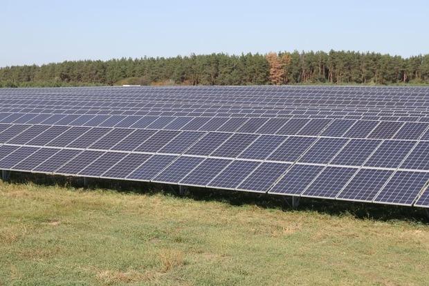 Заработала крупнейшая солнечная электростанция в Киевской области