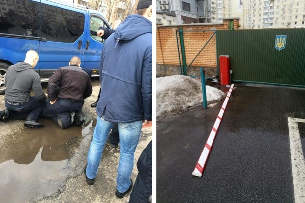 Киевлянин протаранил департамент полиции, когда пытался скрыться от погони