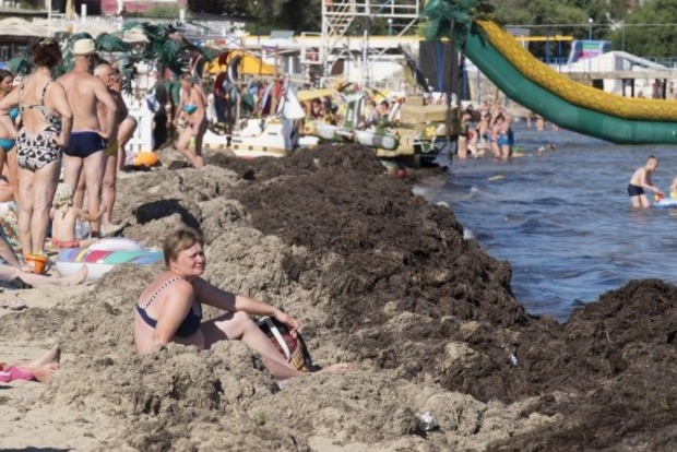 В окупованій Євпаторії приймають сонячні ванни у багнюці