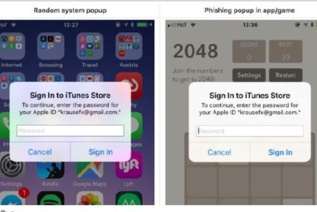 Эксперт по iOS предупреждает об опасности фишинговой атаки на iPhone