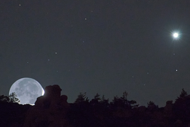 Луна сблизится с Марсом в ночь на 18 октября