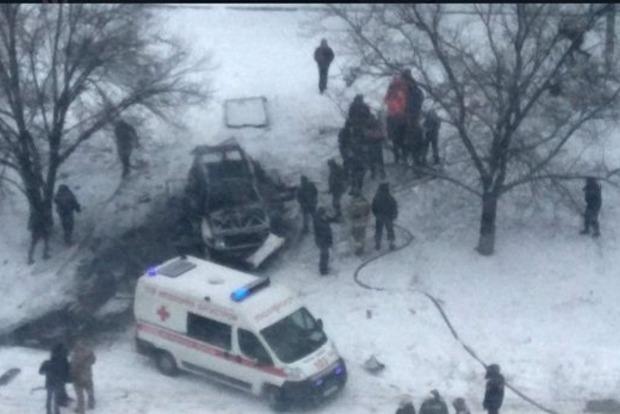 Взрыв автомобиля в Луганске: опубликовано шокирующее видео