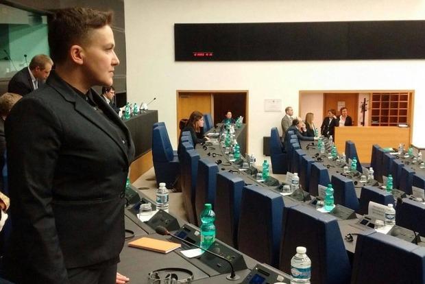 Савченко прислала СБУ фото с сессии ПАСЕ в Страсбурге