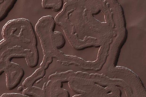 NASA показало фото самого холодного места на Марсе