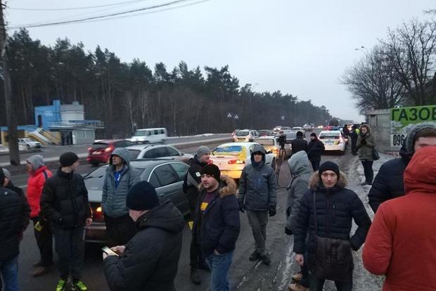 В МВД и Национальной полиции не считают нарушением частичную блокаду столицы