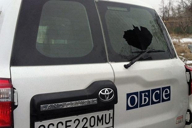 Боевики обстреляли автомобиль миссии ОБСЕ