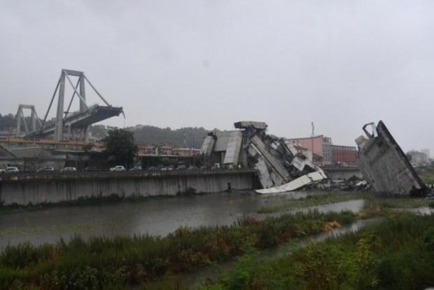 Во время обвала моста в Генуе пострадало двое украинцев