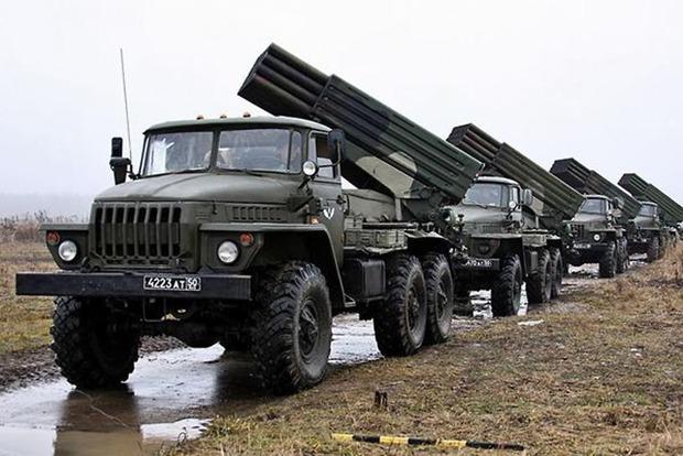 В районе АТО разведка обнаружила 51 танк и 36 «Градов» боевиков