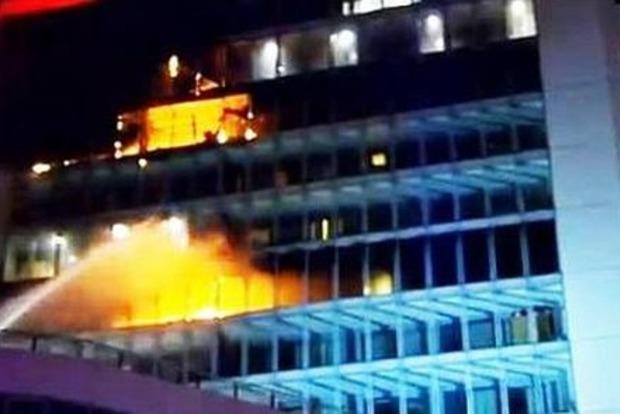 В Дублине выгорело здание отеля Metro