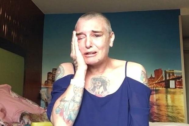 Ирландская певица Шинейд О'Коннор в шокирующем видео призналась, что психически больна