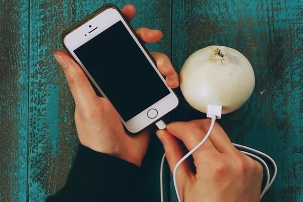 Зарядка телефона от луковицы, яблока или картошки. Работает или нет?