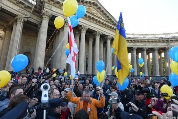 В Петербурге протестуют против войны России с Украиной
