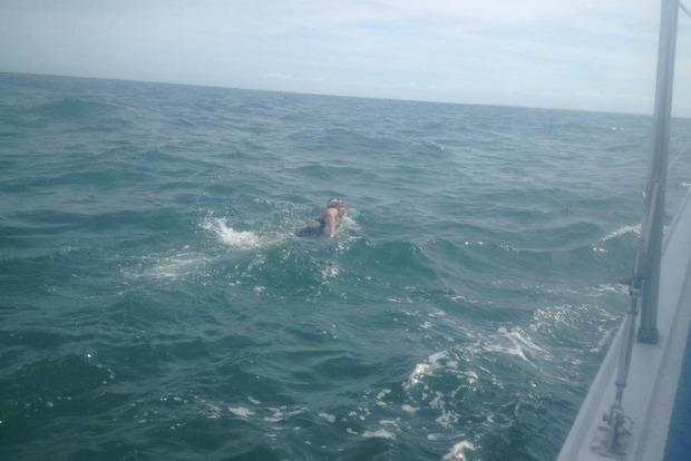 Впервый раз украинка решилась переплыть Ла-Манш