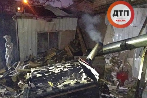 Дом разнесло на куски. В  Киеве произошел взрыв