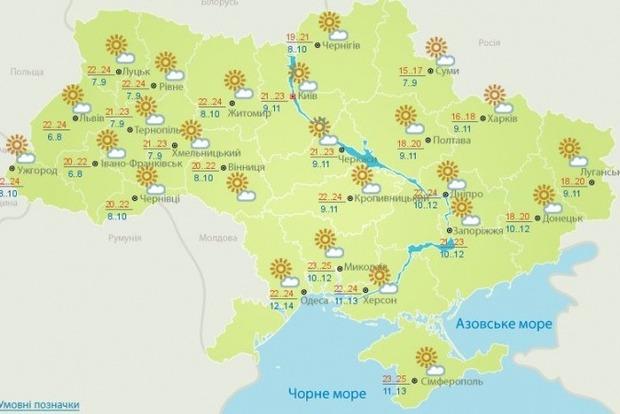 С воскресенья в Украину вернется тепло, а ко вторнику станет даже жарко